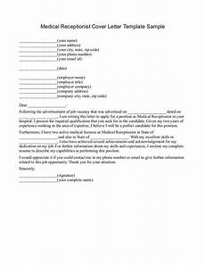 Cover Letter Sample Medical Medical Receptionist Cover Letter Examples Http Www