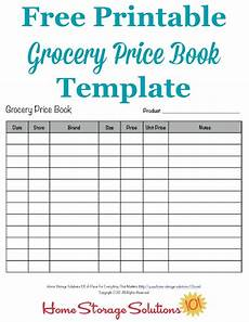 Grocery List Book Grocery Price Book Use It To Compare Grocery Prices In