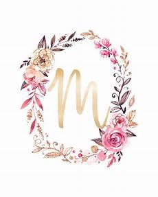 flower wallpaper letter free glitter and glam monogram printables the cottage market