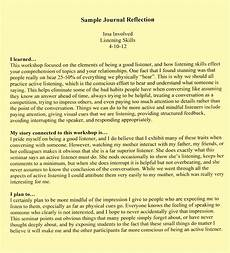 Sample Personal Journal 001 Essay Example Examples Reflective L Journal Thatsnotus