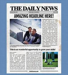 Office Newspaper Template 4 Page Newspaper Template Microsoft Word 8 5x11 Inch By