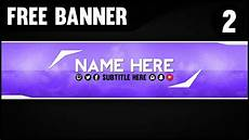 You Tube Banner Free Youtube Banner Template 2 Folder And Psd File