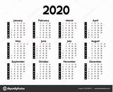 Basic Calendar 2020 Calendar 2020 Week Starts Sunday Basic Business Template