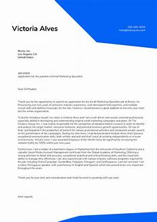 Email Cover Letter Sample For Job Application Email Marketing Specialist Cover Letter Example Kickresume