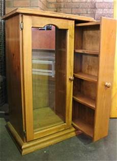 pine stereo cabinet with dvd storage cabinet auction 0016