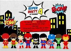Superhero Invite Template Free Superhero Birthday Party Invitation Templates