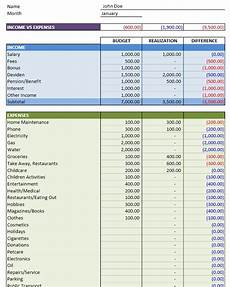 Financial Excel Template Personal Budget Excel Templates