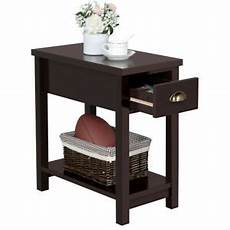 2 tier bedside cabinet sofa side table end table narrow