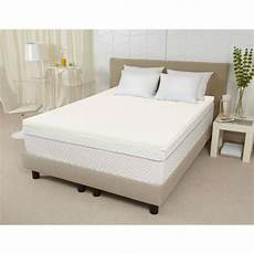 california king size 3 inch thick ventilated memory foam