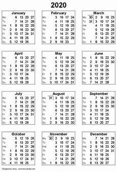 Vertex42 Calendar 2020 Calendars 2020 Printable Free Printable Calendar Monthly