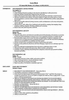 Housekeeping Aide Resume Housekeeping Aid Resume Samples Velvet Jobs