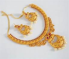 22k Gold Indian Jewellery Designs Gold Plated Indian Jewelry Set Indian Designs