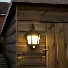 How To Attach Solar Lights To Brick Wall Black Outdoor Solar Security Welcome Wall Light With Pir