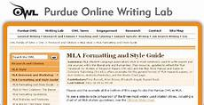Purdue Owl Mla Purdue Works Cited