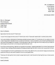 Computer Technician Cover Letter Covering Letter For An It Support Technician Icover Org Uk