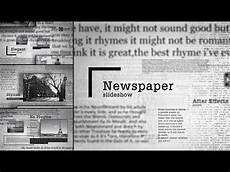 Parts Of A Newspaper Newspaper Slideshow After Effects Template Youtube