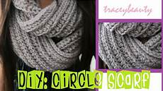 diy knit like circle scarf crochet tutorial
