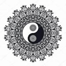 vintage yin and yang in mandala stock vector 169 barsrsind