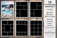 Picture Collage Templates Free Download 11x14 Photo Collage Template Pack 3 Templates Creative