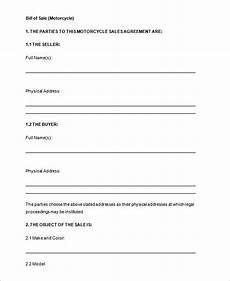 Bill Of Sale Doc Bill Of Sale Template 44 Free Word Excel Pdf