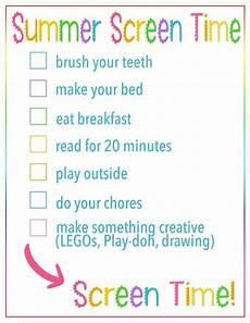 Video Game Checklist Summer Screen Time Rules Checklist Free Printable Checklist