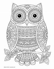 Ausmalbilder Eule Mandala Robot Check Owl Coloring Pages Coloring Pages