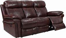 shae joplin brown leather power reclining sofa from