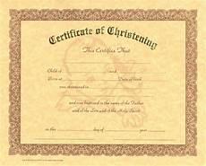 Christening Certificate Christening Certificate Christening Christian Supply