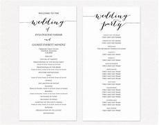 Program Template For Wedding Wedding Ceremony Program Templates 183 Wedding Templates And