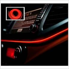 Red Tape Over Light 2m Red Cold Light Lamp Tape El Wire Car Atmosphere Lights
