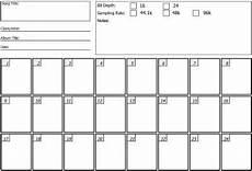 Recording Track Sheet Track Sheet View