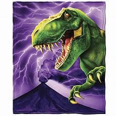 purple t rex dinosaur blanket throw blanket gift idea