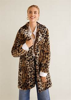 leopard faux fur coat womens faux fur coat fur