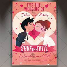 Save The Date Flyer Template Download Save The Date Flyer Psd Template Psdmarket