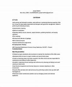 Custodian Resume Custodian Resume Template 6 Free Word Pdf Documents