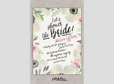 Floral Bridal Shower Invitation   Customized for You! DIY