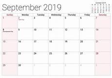 C Alendar Calendar September 2019 Printable With Holidays Net