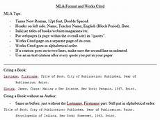 Format Of A Work Cited Page Mrs Whittington English 9 Mla Works Cited Information