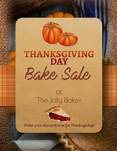 Thanksgiving Bake Sale Customize This Thanksgiving Bake Sale Special Flyer