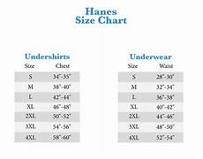 Hanes Chart Hanes Boxer Size Chart Buurtsite Net