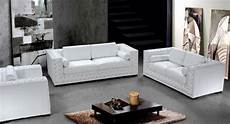 dublin luxurious white leather sofa set with crystals