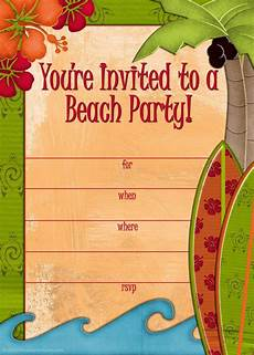 invitation ideas for party free printable beach party invitations from