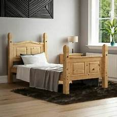 corona single bed 3ft high foot end mexican solid pine