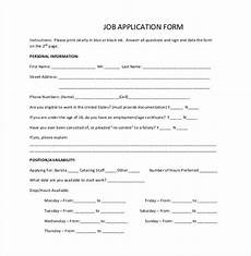 Easy Online Applications Jobs Job Application Template 18 Examples In Pdf Word