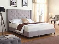new grey silver upholstered platform bed frame slats