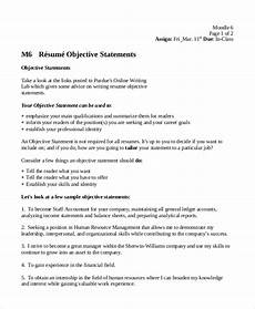 What Are Some Good Objectives To Put On A Resumes Free 7 Sample Resume Objective Examples In Pdf