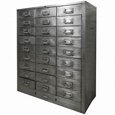 twenty seven drawer industrial metal file cabinet at 1stdibs