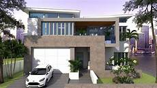 sketchup 2 story house plan 13x15m 4bedroom
