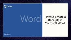 How To Make A Receipt Book How To Create A Receipts In Microsoft Word Youtube