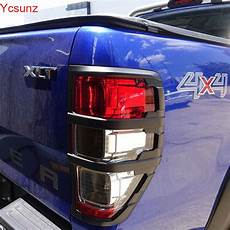 Rear Light Cover 2016 2017 For Ford Ranger T7 Accessories Abs Matte Black